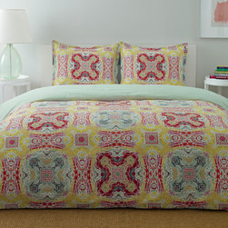 City Scene - City Scene Juniper Paisley Cotton 3-piece Reversible Comforter Set - This three-piece reversible comforter set provides a colorful highlight to your bedroom decor. Crafted from 100 percent machine-washable cotton with a polyester fill,this colorful set will keep you warm and comfortable on even the coldest nights.