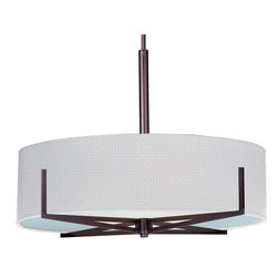 ET2 Lighting - Elements 3-Light Pendant - Do you have a long kitchen counter or dining room table? Use two or three of these chic pendants to unify the space and create a stunning focal point. You can even customize the drum shade and metallic finish to perfectly match the rest of the decor.