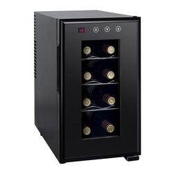 Sunpentown - Sunpentown WC-0888H Thermo-Electric Slim Wine Cooler with Heating - WC-0888H - Shop for Wine Refrigerators from Hayneedle.com! You don't need an underground wine cellar or an expensive and bulky wine cooler when perfectly stored wines fit easily in the Sunpentown WC-0888H Thermo-Electric Slim Wine Cooler with Heating. This pocket-sized wine chiller can go from 46 to 64 degrees and easily fits eight standard wine bottles. Put it under the counter or next to the coffee pot but make sure that you put it somewhere handy because it's going to be your new go-to appliance. The ThermoElectric cooling system offers a whisper-quiet operation without a compressor for quiet and vibration-free cooling. An LED screen with digital controls lets make the necessary climate adjustments and a double-walled glass door with lighted interior lets you browse your vintages without disturbing the contents.About SunpentownSunpentown International designs and manufactures small home appliances for convenient kitchen use. Sunpentown is the largest single producer of induction cooktops in the world controlling over 70% of the domestic market. Aiming to stay at the forefront of induction technology Sunpentown is proud to introduce a new line of uniquely competitive built-in and Wok induction cooktops to appeal to the increasingly global market of the 21st century.