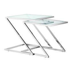 ZUO MODERN - Jaunt Nesting Side Table Clear Glass - Jaunt Nesting Side Table Clear Glass