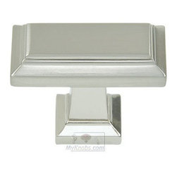 Atlas Homewares - Cabinet Hardware - Sutton Place Rectangle Knob in Brushed Nick -