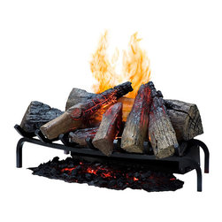"Dimplex - Dimplex 28-Inch Opti-Myst Electric Fireplace Log Set - DLGM29 - The Dimplex 28"" Opti-Myst Open Hearth Electric Insert - DLGM29 is the first electric log set to combine the illusion of fire and smoke. The 3-dimensional flame, combined with glowing hand-finished logs and pulsating ember bed, produces dazzling realism. It uses revolutionary ultrasonic technology to produce a fine water mist and create the illusion of authentic flames and smoke, resulting in an appearance so realistic that it could be mistaken for a traditional wood-burning fireplace. The Dimplex 28"" Opti-Myst Electric Insert installs quickly and easily - just plug it in to a standard household outlet. Easy fill water tank offers 12-14 hours of continuous operation before refilling is required. Flame only - does not produce heat."