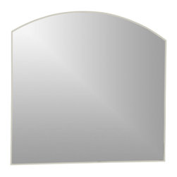Decor Wonderland Mirrors - Decor Wonderland Angel Large Frameless Wall Mirror - Place the Angel Large Frameless Wall Mirror in any room to add a chic contemporary feel. This large frameless wall mirror features a beveled curved design. With no frame this mirror makes it easy to match with any color decor in your home.