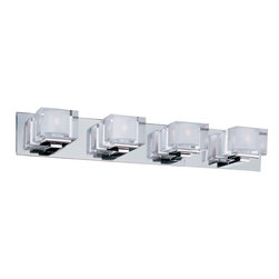 Maxim Lighting - Cubic Bath Bar - Cubic Bath Bar features Polished Chrome finish with Clear glass shades.  60 watt 120 volt JCD type G9 base halogen lamps are included. 1 Light: 5.75 inch width x 4.75 inch height x 5.75 inch depth. 2 Light: 14.5 inch width x 4.5 inch height x 5.25 inch depth. 3 Light: 21.5 inch width x 4.5 inch height x 5.25 inch depth. 4 Light: 29.5 inch width x 4.5 inch height x 5.25 inch depth. Rated for damp location.