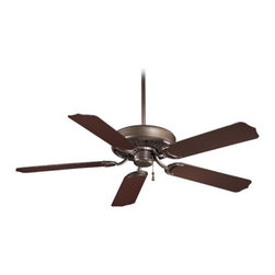 Ceiling Fan Without Light in Oil Rubbed Bronze Finish -