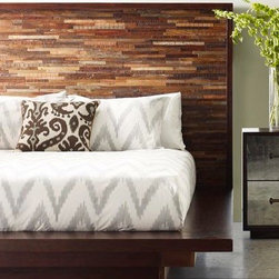 Freeman Reclaimed Wood Platform Bed - A beautiful collection of sustainable furniture that is hand-crafted from exotic demolition hardwoods as well as black walnut.
