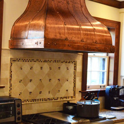 Art of Rain - Copper Camillia Range Hoods - by Art of Rain - Copper range hood is both beautiful and functional. Hand crafted into your kitchens custom dimensions. Art of Rain provides one of the most unique range hoods in the USA.