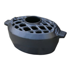 John Wright - Lattice Steamer, Black Matte - Breathe some humidity into your dry air with this lovely lattice-top steamer. Beautifully finished and impressively durable, it's a pretty, practical addition to your stove.