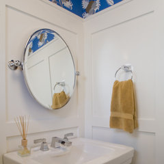 traditional powder room by H&amp;H Design