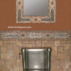 Mediterranean Bathroom by Linda Paul