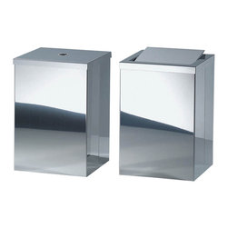 Modo Bath - Harmony 210 Waste Basket with Revolving Cover in Polished Stainless Steel - Harmony 210 Waste Basket with Revolving Cover in Polished Stainless Steel