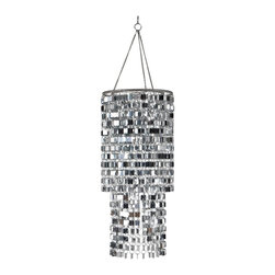 """Wall Pops - Wall Pops Icicles Chandelier - Shimmer style cascades from the ceiling with the Icicles Chandelier. Not just for walls anymore, you can add the finishing touch with a WallPops chandelier! The Icicles three-tier chandelier is a posh decor must-have. Available in a silver metallic finish only. The Icicles Chandelier does not include a lighting fixture or cord set, but does fit over a standard lantern bulb and cord, not to exceed 40 watts. This chandelier is 10 1/4"""" in diameter and 29 1/2"""" high.Dimensions (L x W): 29.5"""" x 8.5"""" Material: PlasticCountry of Origin: ChinaCare Instructions: Wipe with Damp Cloth"""
