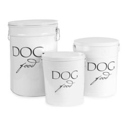 Harry Barker - Harry Barker Dog Food Storage Canister in White - Harry Barker Dog Food Storage Canisters look great in any setting. Provides a durable food-safe steel can covered with tin lid for convenient and stylish storage of dog food.