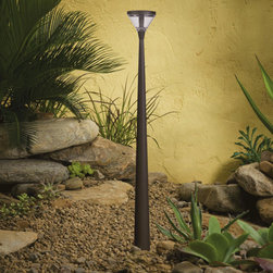 Kichler LED Tapered Column - I like this lighting because it's different. The long tapered column raises it up so it can go beyond path lighting to add feature lighting to its surroundings. It has a sleek modern feel that will go well with contemporary landscaping.
