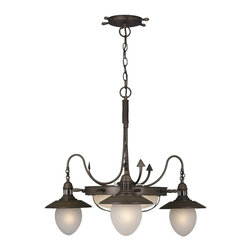 Vaxcel - Nautical Indoor Antique Red Copper 26 in. Chandelier - Dimensions: 32 in. W x 32 in. L x 26 in. H.