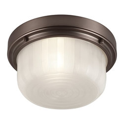 Murray Feiss - Murray Feiss Elliot Transitional Flush Mount Ceiling Light X-TLC083MF - The Elliot Collection of flushmounts features a deep, broad shade surrounded by a simple beveled ring detail. Available in two sizes and two finishes.