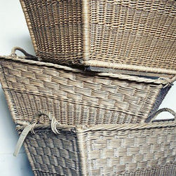 French Market Basket - So many lovely textures, so little time! I love the size and shape of these vintage baskets. They would be perfect for adding warmth to a room and to use for extra storage.