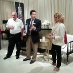 High Point Market 2013 - Paul & Carol Schatz with one of our favorite reps Bud Piezner at Carcole in Highpoint NC.