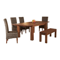 Modus Furniture - Modus Furniture Meadow Rectangular Dining Table in Brick Brown - Modus Furniture - Dining Tables - 3F4161