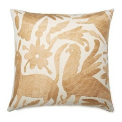 5 Surry Lane - Mexican Embroidered Otomi Tan Neutral Pillow - Warm up your sofa or bedding with a colorful throw pillow. The rich and storied pattern originates with the Otomi Indians of Mexico, and is still hand-embroidered by them today. Pick from two sizes and six vibrant colors to complement your well-traveled aesthetic.