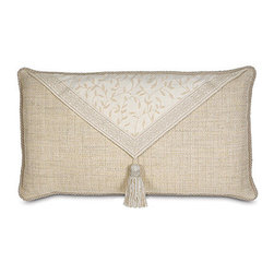 Frontgate - Hayes Blossom Envelope Pillow - Compliments the Brookfield Bedding Collection. Because this bedding is specially made to order, please allow 4-6 weeks for delivery.