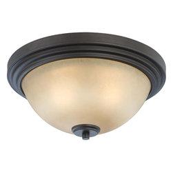 Nuvo Lighting - Nuvo Lighting 60-4131 Harmony 2-Light Flush Dome Fixture with Saffron Glass - Nuvo Lighting 60-4131 Harmony 2-Light Flush Dome Fixture with Saffron Glass
