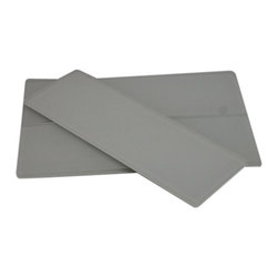 """Loft Super White Frosted Glass Tiles - SAMPLE - LOFTSUPER WHITEFROSTED4X12 GLASS TILES 1 PIECE SAMPLE You are purchasing a 1 piece sample measuring approximately 3 """" x 6"""". Samples are intended for color comparison purposes, not installation purposes.-Glass Tiles -"""