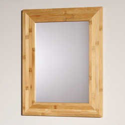 """24"""" Iwan Bamboo Vanity Mirror - The 24"""" Iwan Vanity Mirror displays the natural beauty of bamboo and meshes easily with modern, eclectic and rustic bath decors."""