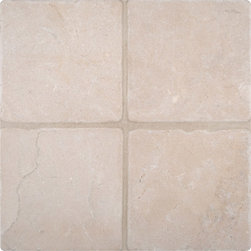 """Marbleville - MSI Crema Marfil 6"""" x 6"""" Tumbled Marble Floor and Wall Tile - Premium Grade Crema Marfil 6"""" x 6"""" Tumbled Mesh-Mounted Marble Mosaic is a splendid Tile to add to your decor. Its aesthetically pleasing look can add great value to the any ambience. This Mosaic Tile is constructed from durable, selected natural stone Marble material. The tile is manufactured to a high standard, each tile is hand selected to ensure quality. It is perfect for any interior/exterior projects such as kitchen backsplash, bathroom flooring, shower surround, countertop, dining room, entryway, corridor, balcony, spa, pool, fountain, etc."""