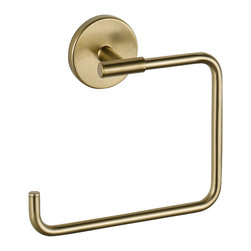 Delta Towel Ring - 759460-CZ - The design was inspired by the sleek elegance of modern European design.