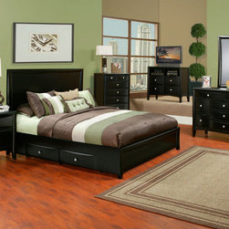 Alpine Furniture - Laguna 6 PC Queen Storage Bedroom Set - Laguna 6 PC Queen Storage Bedroom Set