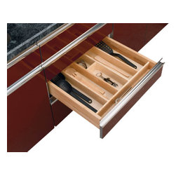 "Rev-A-Shelf - Rev-A-Shelf 4WUT-3 Wood Utility Tray Insert - This Wood Utensil Organizer for Drawers will help if you're frustrated with having to rummage through piles of utensils just to find the one item you need. The Rev-a-Shelf 4WUT-3 Wood Utility Tray Insert is a good-looking and effective organizer that will keep your kitchen neat and tidy for years to come. Additionally, the Tray Insert can be trimmed to fit any variety of kitchen drawers, which allows for a customized drop-in installation. Physical specifications: 24"" W x 22"" D x 2-7/8"" H. Minimum Trim Size: 12"" W and 17-5/8"" D."