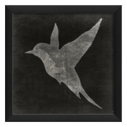The Artwork Factory - Bird on Black 2 Framed Poster - Made in the USA.