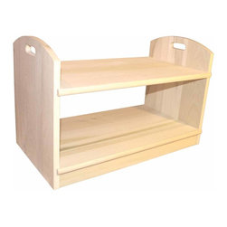 Renovators Supply - Printer Stands UnFinished Pine Rolling Printer Stand 18H 26 1/2W | 172210 - Rolling Printer Stand Trolley. This printer stand is crafted from solid pine and comes with 4 caster wheels- so you can roll it where you need it. Comes naturally unfinished and ready to assemble. Measures 18 in. high x 26 1/2 in. wide x 15 in. projection.