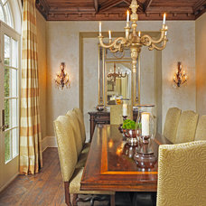 Mediterranean Dining Room by Shiflet Group Architects