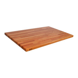 "John Boos - 1.5"" Thick Blended Cherry Countertop - 27""W - Cherry countertops made of butcher block wood manufactured by John Boos & Co. Sure to warm up your kitchen and provide a sturdy surface for cutting and prep."