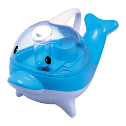 Sunpentown - Blue Dolphin Ultrasonic Humidifier - Help your little ones breathe easier by adding moisture to the air with our adorable Dolphin humidifier. A humidifier will help achieve the ideal conditions to sleep well at night and provides year-round relief from the drying effects of AC and Heater. Ultrasonic technology makes it noiseless and the fine atomization lasts about 8 to 10 hours. Features super-quiet operation, overflow protection and auto shut-off protection (with no audible alarm) - the perfect addition to any room.