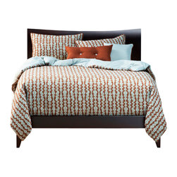 SIS Covers - SIS Covers Dancing Stripe Duvet Set - 6 Piece Full Duvet - 5 Piece Twin Duvet Duvet 67x88, 1 Std Sham 26x20, 1 16x16 dec pillow, 1 26x14 dec pillow. 6 Piece Full Duvet Duvet 86x88, 2 Std Shams 26x20, 1 16x16 dec pillow, 1 26x14 dec pillow. 6 Piece Queen Duvet Duvet 94x98, 2 Qn Shams 30x20, 1 16x16 dec pillow, 1 26x14 dec pillow. 6 Piece California King Duvet Duvet 104x100, 2 King Shams 36x20, 1 16x16 dec pillow, 1 26x14 dec pillow6 Piece King Duvet Duvet 104x98, 2 Kg Shams 36x20, 1 16x16 dec pillow, 1 26x14 dec pillow. Fabric Content 1 60 Rayon, 40 Polyester, Fabric Content 2 60 Rayon, 40 Polyester, Fabric Content 3 60 Rayon, 40 Polyester. Guarantee Workmanship and materials for the life of the product. SIScovers cannot be responsible for normal fabric wear, sun damage, or damage caused by misuse. Care instructions Dry Clean Only. Features Reversible Duvet and Shams