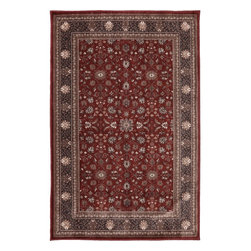 """American Rug Craftsmen - Dryden Barnsley Gardens Red Oriental 2'1"""" x 7'10"""" Runner American Rug - Our Dryden Collection is the ultimate combination of style, comfort and durability. This collection impresses those who demand fashionable style with patterns including: tribal kilims, modern ikats, and Moroccan tile patterns. Made from our softest and most talked about fiber, SmartStrand, this collection is carefully crafted using 2-ply space dyed yarns, providing 24 shades of color. Every new SmartStrand area rug comes with a lifetime stain and soil warranty. Manufactured entirely in the United States, American Rug Craftsmen"""
