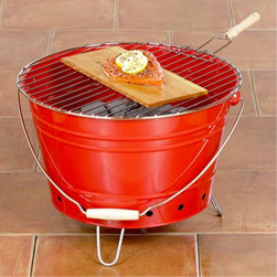 Galvanized Steel Bucket Grill - For parties on the go I'm loving this portable bucket charcoal grill. Take it to the beach or the park for impromptu celebrations.