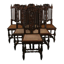 EuroLux Home - 6 Consigned Antique Dining Chairs France 1880 - Product Details