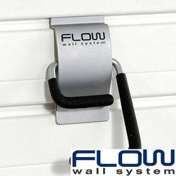 Flow Wall Systems - Flow Wall S-Hooks (Pack of 4) - Flow Wall hooks feature a strong,powder-coated steel body that snaps into place,attaching to Flow Wall panels with a special clip. The Flow Wall 'Click and Stick' locking system keeps your hooks in place when removing objects that have been hung.