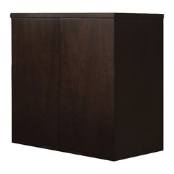 Mayline - Mayline Mira Wardrobe Unit in Espresso - Mayline - Storage Cabinets - MWD3624ESP - Miras simple curves create an elegant setting for any work environment. The finest quality workmanship in-stock availability and affordability make it a very popular series.