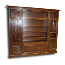 EuroLux Home - New Bookcase TV Display Cabinet Consigned Antiqued - Product Details