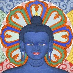 Medicine Buddha (Original) by Fnu Tenzin Dhonden - Fine medicine Buddha paintings makeing time 20days,original unique piece, everything done so beautifully .