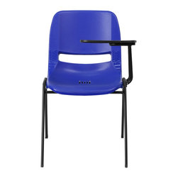 Flash Furniture - Flash Furniture Tablet Arm Chairs Tablet arm chairs X-GG-BATL-LB-1OE-TUR - This is the perfect tablet arm chair for any classroom or training room setting. The simplistic design makes this Flash Furniture Tablet Arm Chair a versatile and welcomed addition to your school or in the home. This chair features a comfort-formed back and contoured seat with waterfall front. Along with a comfortable sitting experience you get the added security that this chair will endure the test of time. [RUT-EO1-BL-LTAB-GG]