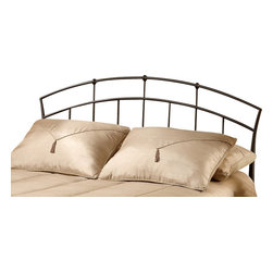 Hillsdale Furniture - Hillsdale Vancouver Poster Headboard - King - Popular contemporary design themes makes this bed a best seller. Tapered side posts and strategically placed doughnut style castings are highlighted by twisted spindles. Features a textured antique brown powder coat finish.