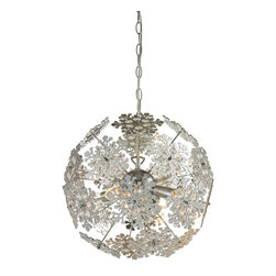 Sterling Industries - Sterling Industries 144-008 Haugh-Contemporary Floral Orb Chandelier - Chandelier (1)