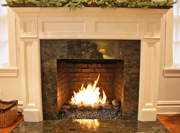 Contemporary Indoor Fireplaces by NYC Fireplaces and Outdoor Kitchens
