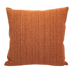 Rust Textured Pillow - For style you can feel as well as see, toss this pillow into your mix. Its please-touch texture, warm rust hue and tailored top-stitch edging adds to the vibe of easy, relaxed elegance in your favorite setting.